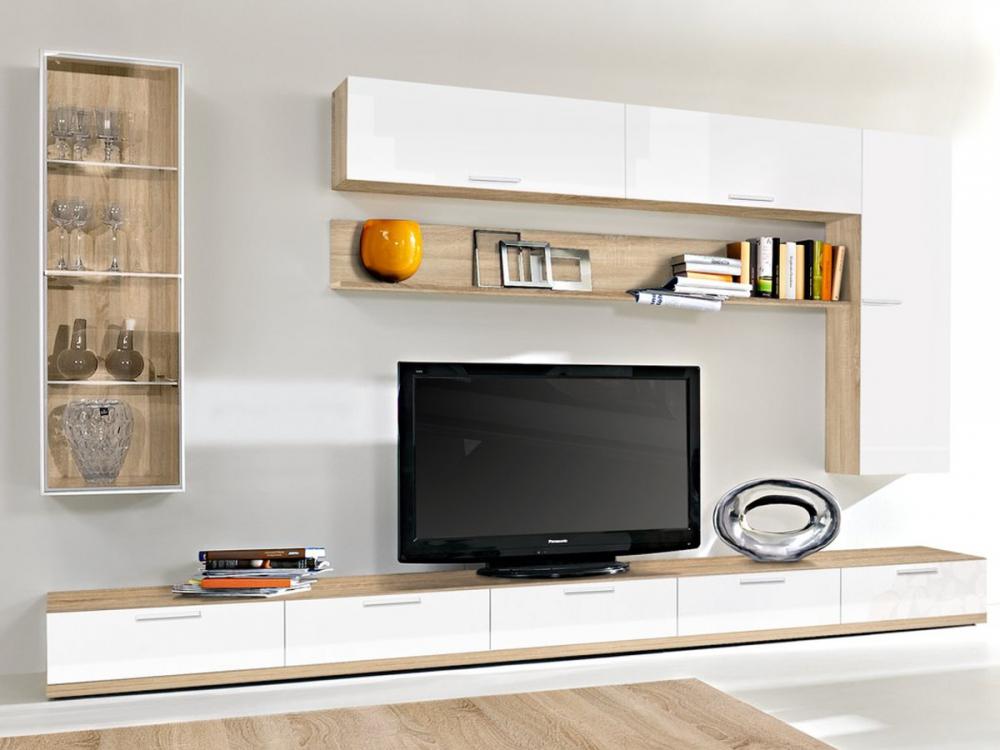 arte m game plus wohnwand anbauwand schrankwand wei. Black Bedroom Furniture Sets. Home Design Ideas