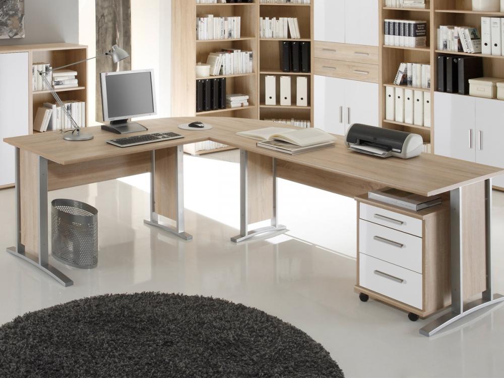 Komplettb ro arbeitszimmer schreibtisch b ro komplett - Buro komplett set ...
