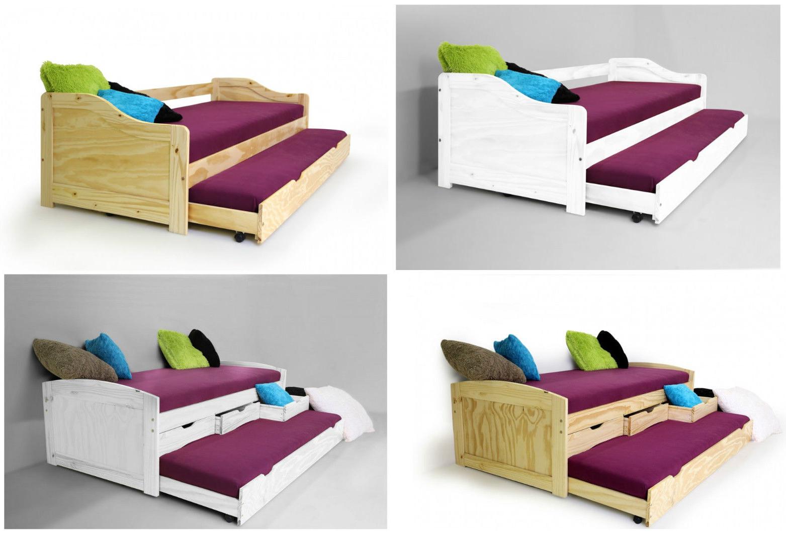 kinderbett jugendbett tandemliege g stebett massivholz kojenbett natur oder wei ebay. Black Bedroom Furniture Sets. Home Design Ideas