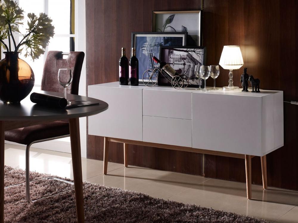 sideboard ii lowboard kommode meran wei weiss f e eiche. Black Bedroom Furniture Sets. Home Design Ideas