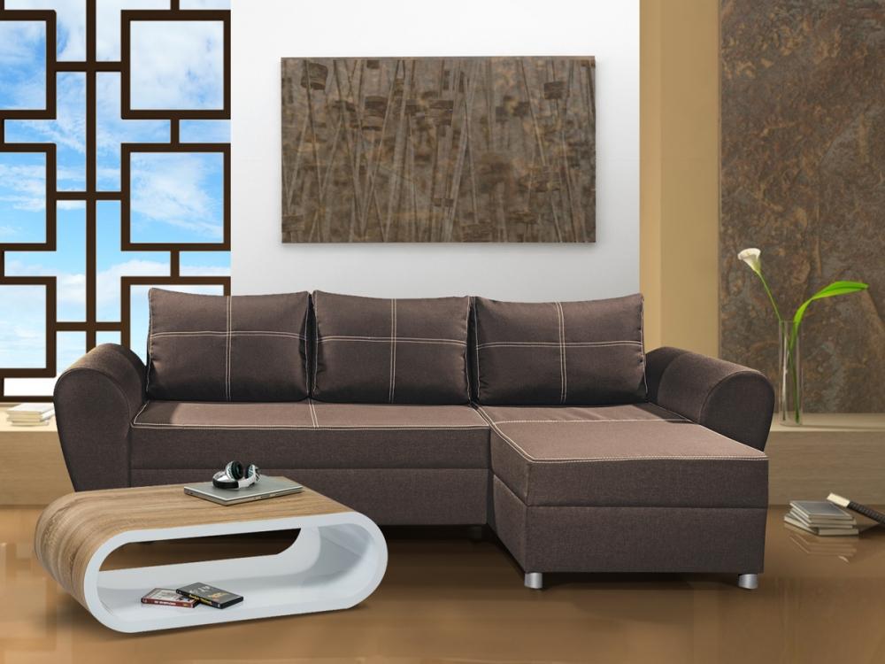 page ecksofa eckcouch sofa couch sitzecke stoff braun ottomane links rechts ebay. Black Bedroom Furniture Sets. Home Design Ideas