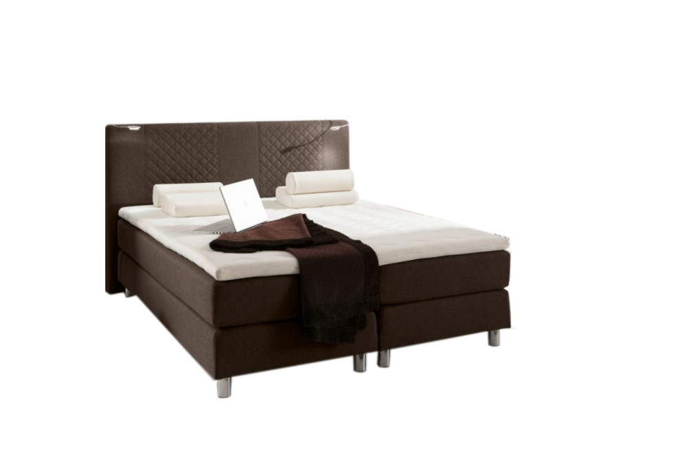 boxspringbett pasadena bett hotelbett designerbett 160x200 cm h3 webstoff braun ebay. Black Bedroom Furniture Sets. Home Design Ideas