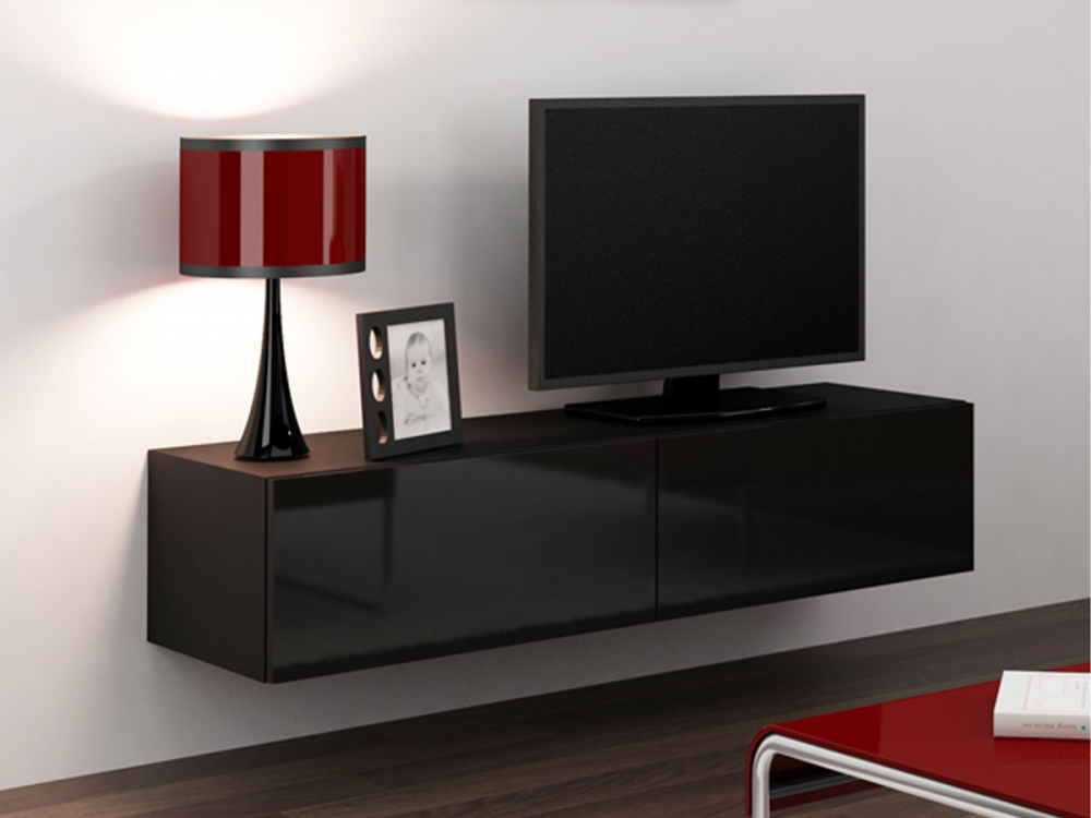 vanity min tv unterteil fernsehschrank tv schrank unterschrank schwarz hochglanz ebay. Black Bedroom Furniture Sets. Home Design Ideas