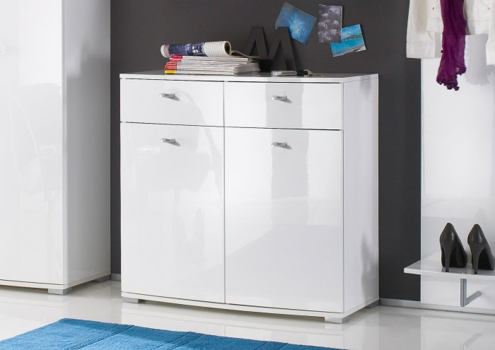 style schuhkommode schuhschrank diele garderobe lack hochglanz 87x84x39 cm wei ebay. Black Bedroom Furniture Sets. Home Design Ideas