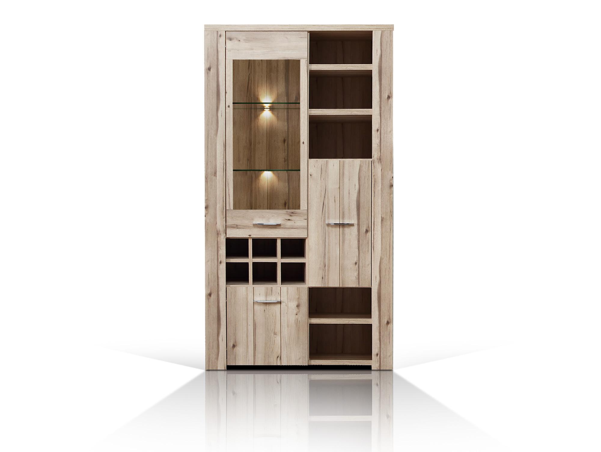 vitrine standvitrine highboard kommode schrank cuba. Black Bedroom Furniture Sets. Home Design Ideas