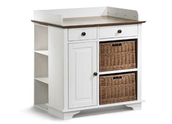 jamie wickelkommode mit regal kommode f rs kinderzimmer kiefer massiv wei. Black Bedroom Furniture Sets. Home Design Ideas
