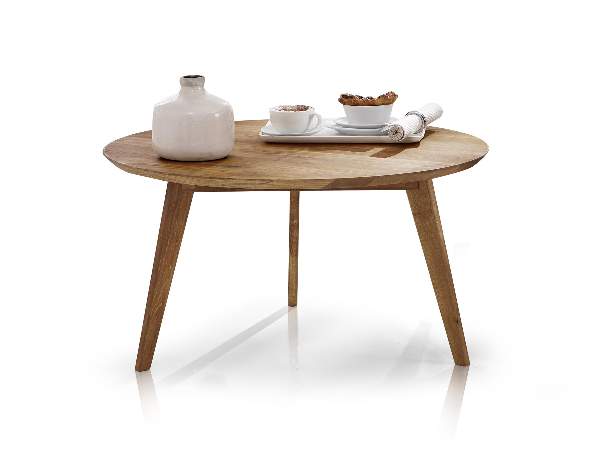 austin couchtisch beistelltisch wohnzimmertisch tisch kernbuche rund 70 cm ebay. Black Bedroom Furniture Sets. Home Design Ideas