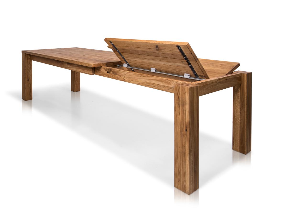 henry tisch wildeiche esstisch massivholztisch 180x100 bis 272x100 zum ausziehen ebay. Black Bedroom Furniture Sets. Home Design Ideas