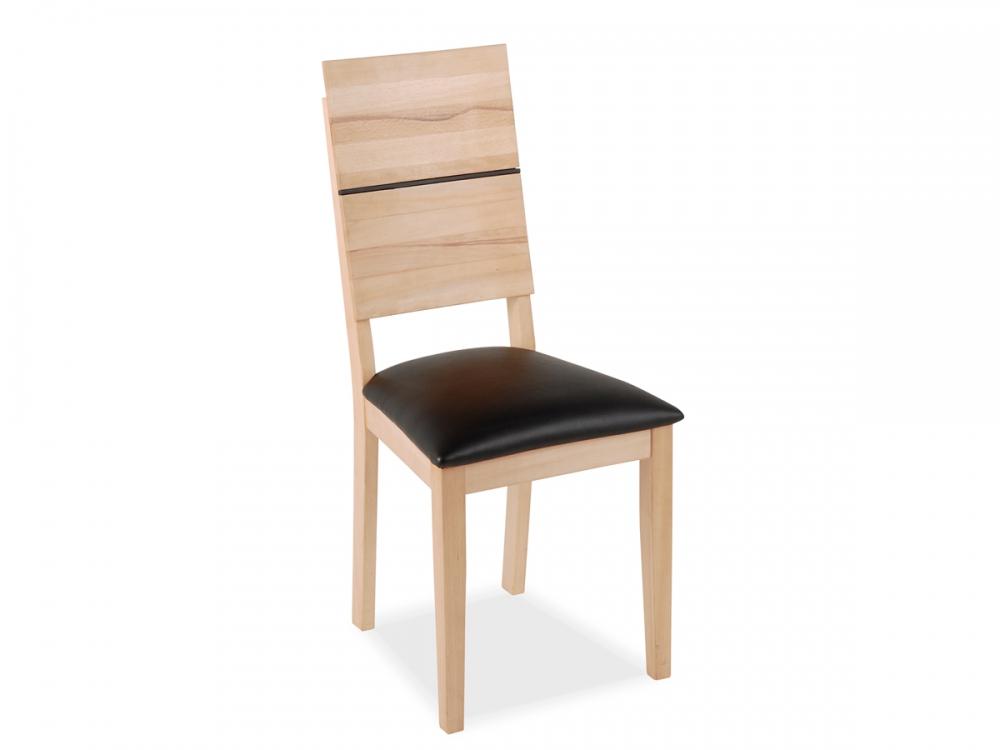 Holzstuhl massivholzstuhl stuhl hugo echlederbezug braun for Design stuhl hugo
