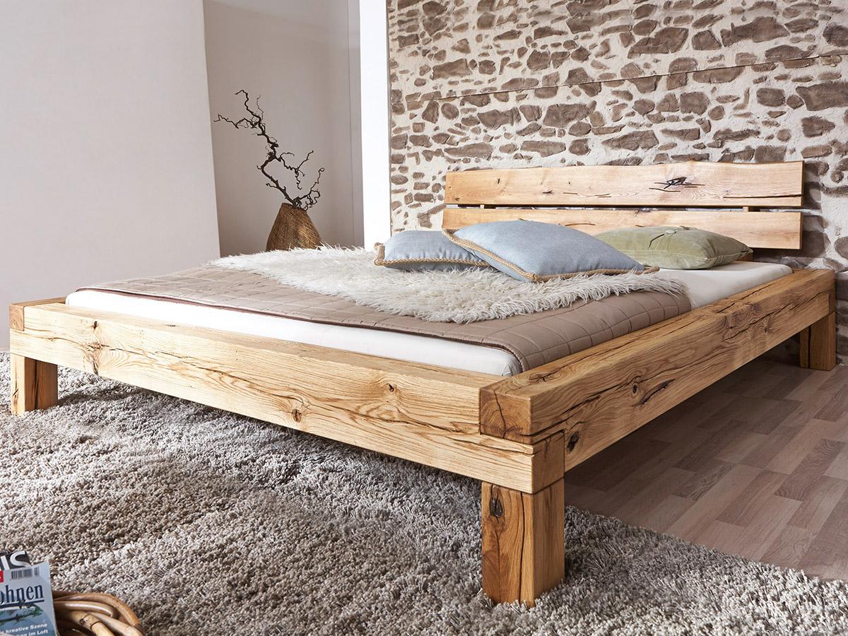 lias massivholzbett doppelbett bett eiche massiv ge lt inkl kopfteil 160x200 ebay. Black Bedroom Furniture Sets. Home Design Ideas