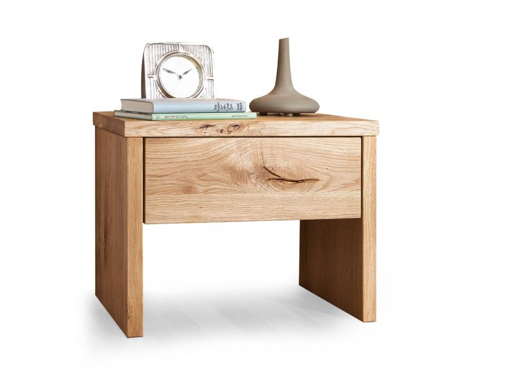 lias nachtkommode nachttisch beistelltisch mit schublade wildeiche unbehandelt ebay. Black Bedroom Furniture Sets. Home Design Ideas