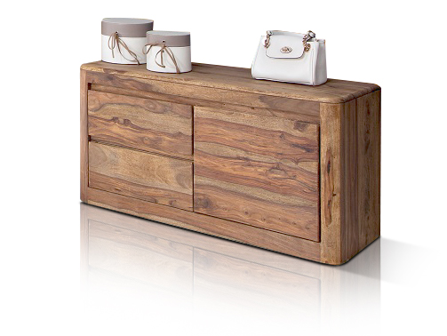 massivholz sideboard sheesham nils kommode schuhschrank garderobenschrank diele ebay. Black Bedroom Furniture Sets. Home Design Ideas