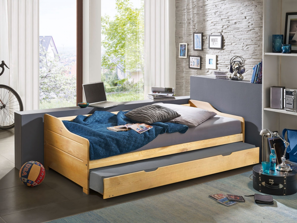 Detalles de PETRA Kinderbett Jugendbett Tandemliege Bett ausziebares  => Auflagen Gartenmobel Petra