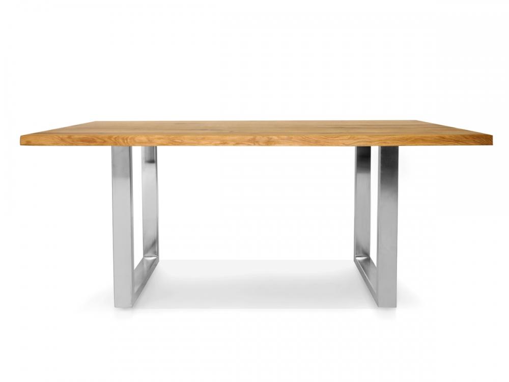 Esstisch wildeiche baumkante  TREE Baumtisch mit Baumkante Esstisch Tisch Vollmassiv Wildeiche ...