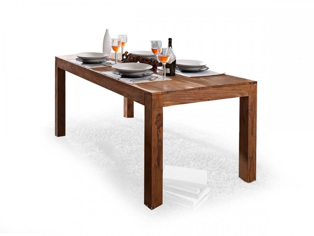whitney tisch massivholz massivholztisch esstisch holztisch sheesham 160x90 ebay. Black Bedroom Furniture Sets. Home Design Ideas