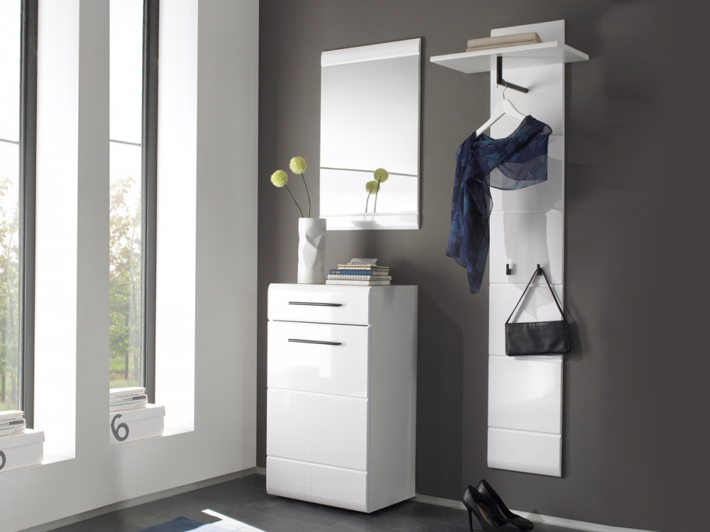 deon komplett garderobe flurm bel diele garderobenm bel wei hochglanz ebay. Black Bedroom Furniture Sets. Home Design Ideas