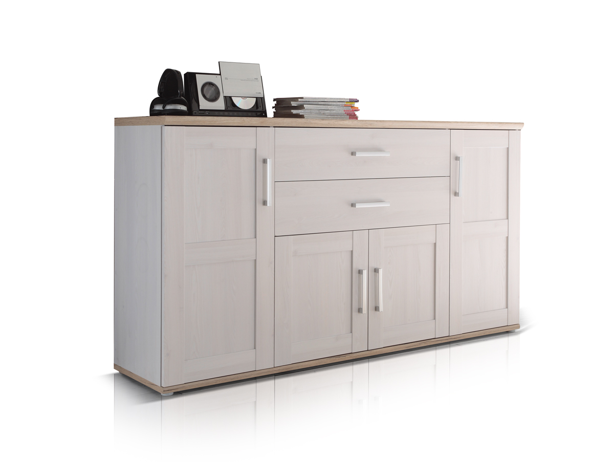 romantik sideboard kommode dekor sibiu l rche eiche san remo hell wei schrank ebay. Black Bedroom Furniture Sets. Home Design Ideas