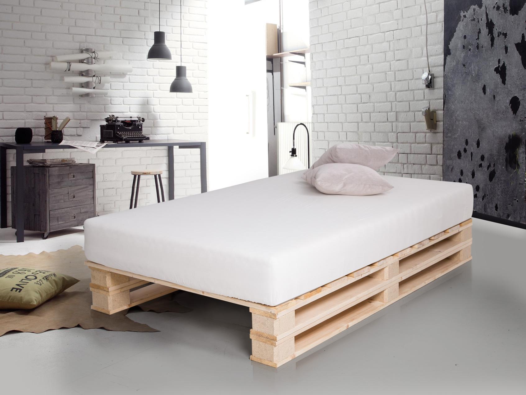 Doppelbett holzbett palettenbett bett 90x200 cm jugendbett paletti ...