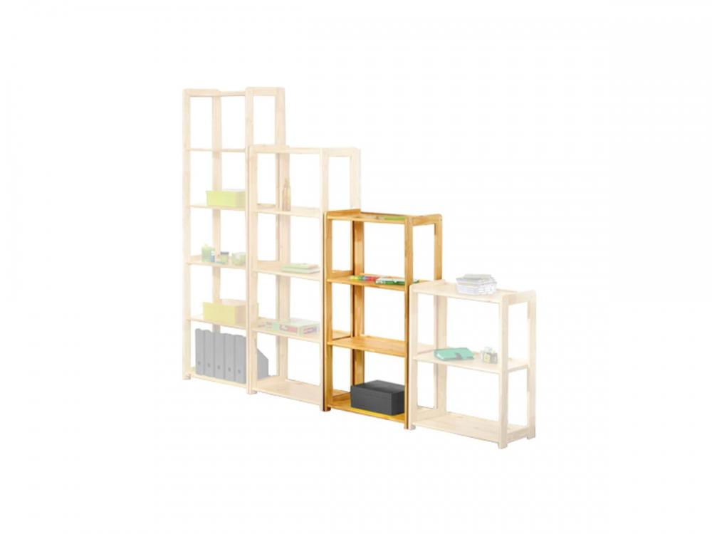 regal b cherregal holz kiefer massiv lackiert h 122 cm regalsystem massivholz ebay. Black Bedroom Furniture Sets. Home Design Ideas