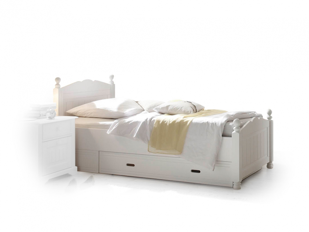 cinderella premium einzelbett kinderbett bett kiefer massiv wei weiss 120x200 ebay. Black Bedroom Furniture Sets. Home Design Ideas