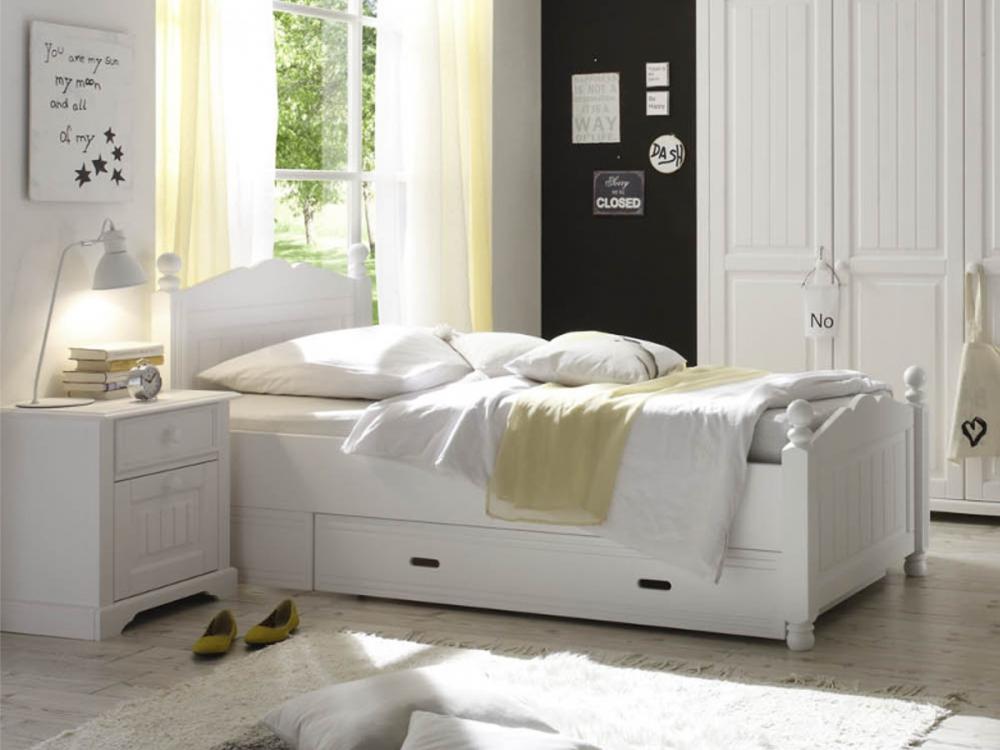 kinderbett wei 100 200. Black Bedroom Furniture Sets. Home Design Ideas