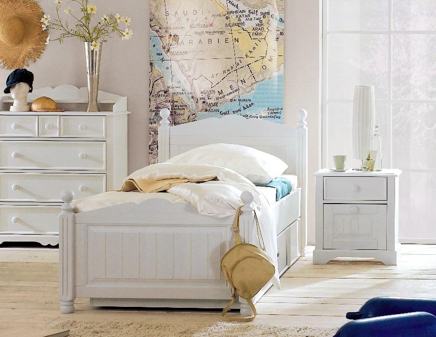 Einzelbett weiß holz  CINDERELLA PREMIUM Einzelbett Kinderbett Bett Kiefer massiv Weiß ...