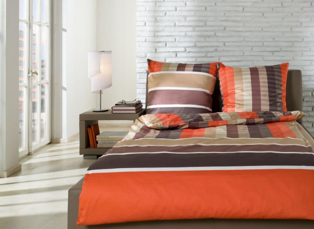 bugatti renforce bettw sche bettbezug 100 baumwolle rei verschlu 140x200 orange ebay. Black Bedroom Furniture Sets. Home Design Ideas