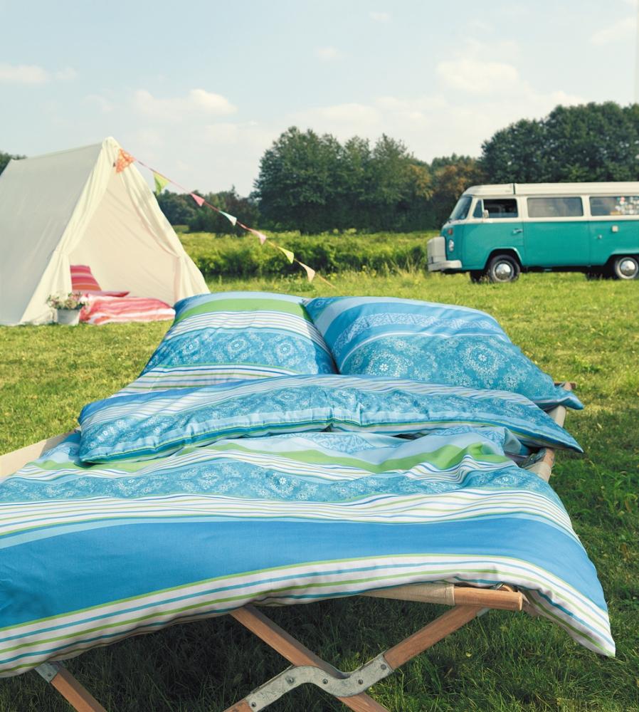 s oliver renforce bettw sche bett berzug baumwolle 135x200 blau gr n streifen ebay. Black Bedroom Furniture Sets. Home Design Ideas
