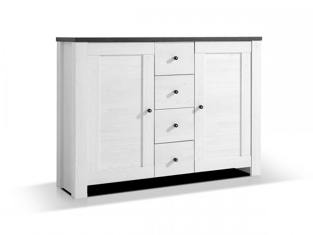 antwerpen ii kommode schrank schubkastenregal 2 t ren dekor l rche pinie dunkel ebay. Black Bedroom Furniture Sets. Home Design Ideas