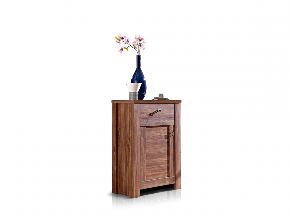 bern schuhschrank garderobenschrank schrank f r garderobe diele dekor akazie ebay. Black Bedroom Furniture Sets. Home Design Ideas