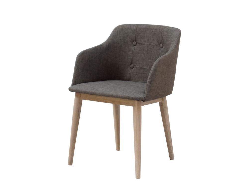 Candel esstischstuhl polsterstuhl esszimmerstuhl stuhl rubberwood webstoff grau ebay - Schalenstuhl stoff ...