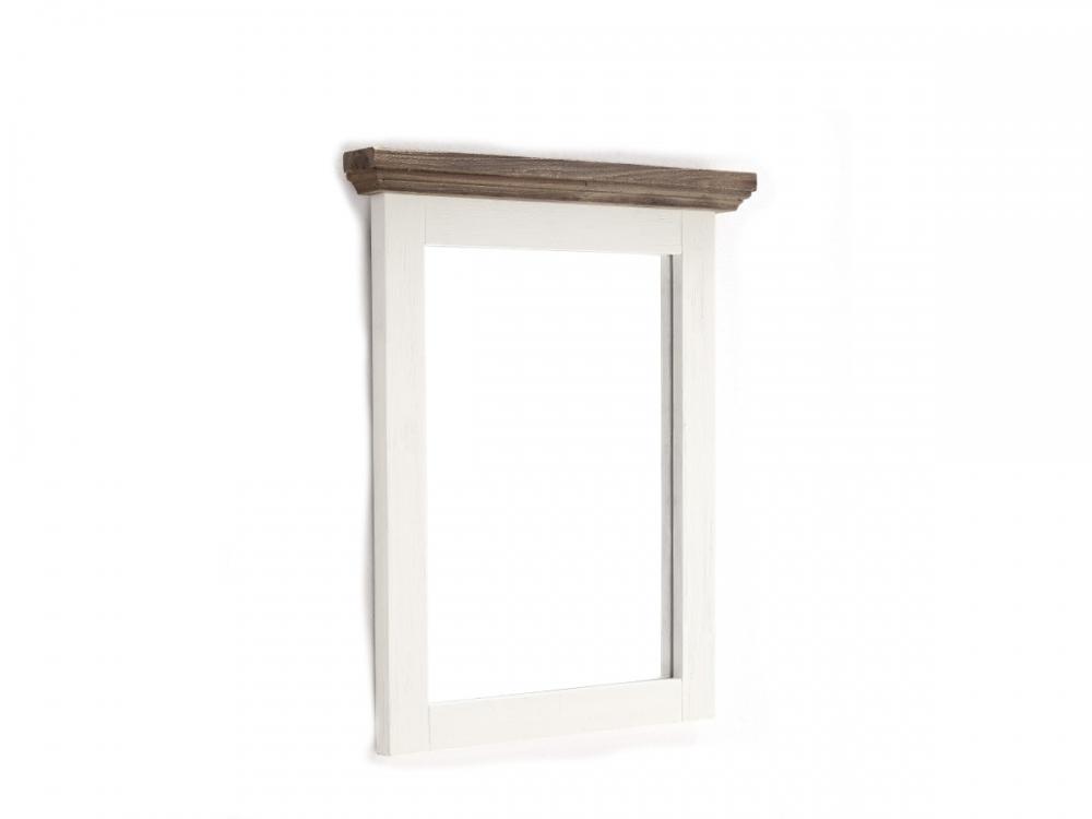 gora wandspiegel spiegel f r garderobe diele 80x75 rahmen akazie massiv wei. Black Bedroom Furniture Sets. Home Design Ideas