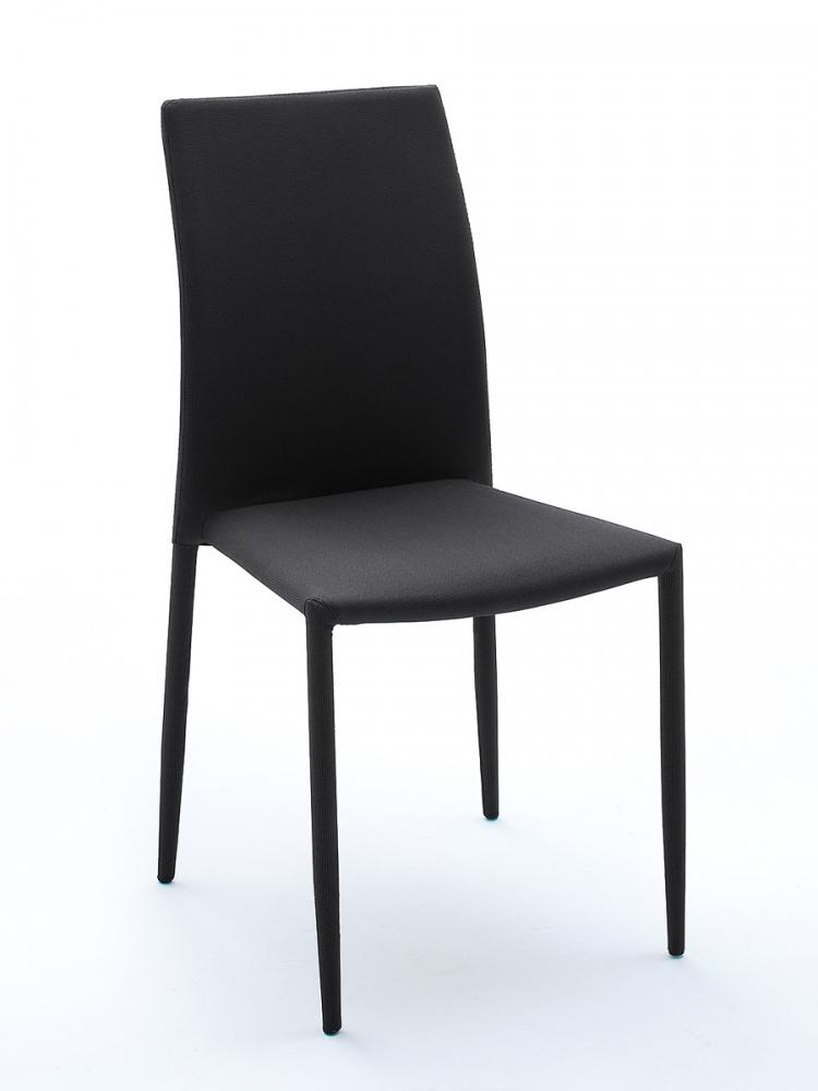 mia stapelbarer stuhl esstischstuhl polsterstuhl stapelstuhl stoff schwarz wei. Black Bedroom Furniture Sets. Home Design Ideas