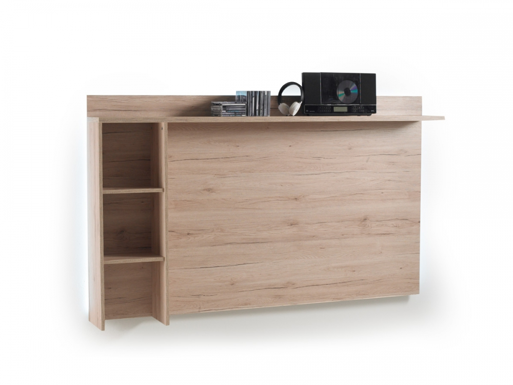 miriam tv wandregal wandboard h ngeregal regal dekor eiche san remo b181 cm ebay. Black Bedroom Furniture Sets. Home Design Ideas