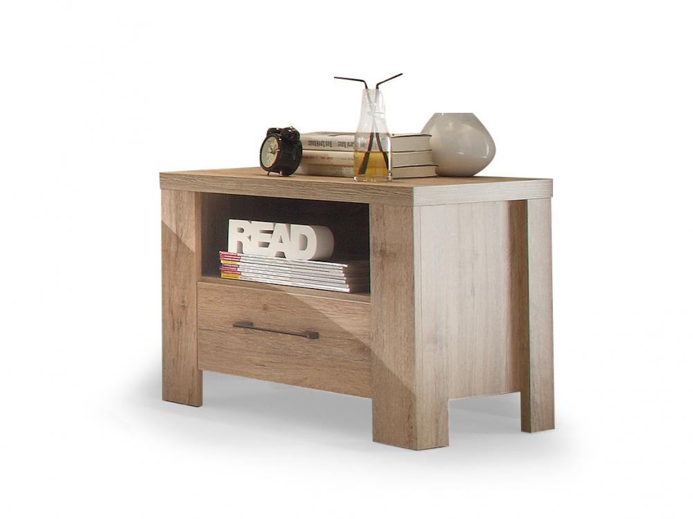 leroy nachtkommode nachttisch kommode nachtk stchen dekor eiche san remo hell. Black Bedroom Furniture Sets. Home Design Ideas