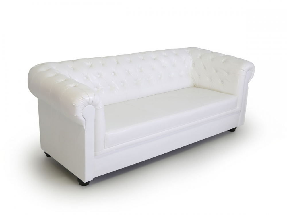 chesterfield polstersessel sofa 3 sitzer 3er couch wei weiss edles polstersofa ebay. Black Bedroom Furniture Sets. Home Design Ideas