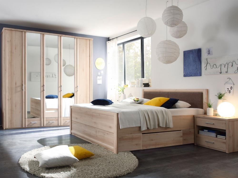 claudia schlafzimmer schrank himmelbett nachtkommoden dekor buche hell ebay. Black Bedroom Furniture Sets. Home Design Ideas