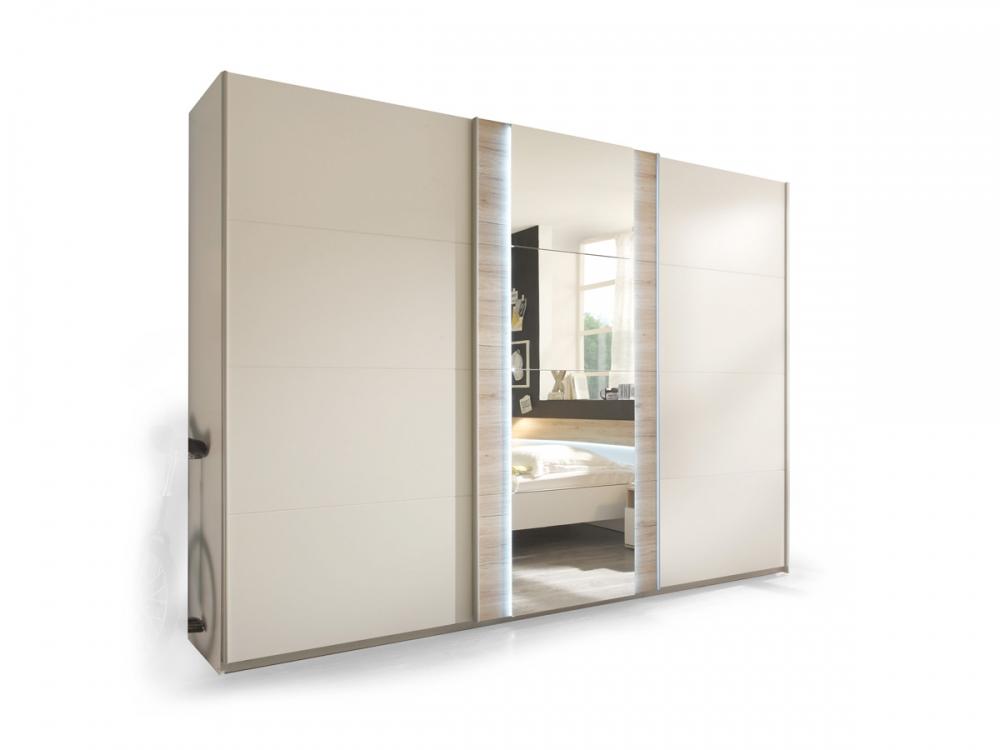mandy schwebet renschrank kleiderschrank schrank 315 cm breit dekor eiche wei. Black Bedroom Furniture Sets. Home Design Ideas