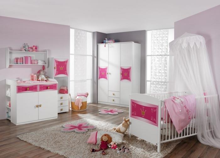 Kitty Babyschlafzimmer Babyzimmer Kinderzimmer Schrank+bett+