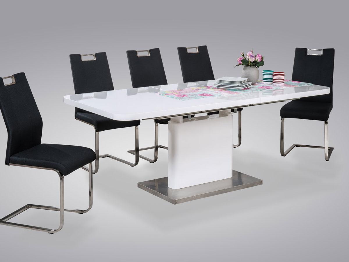 Andrea tisch esstisch hochglanztisch 120x80 bis 160x80 for Designer esstische 120x80