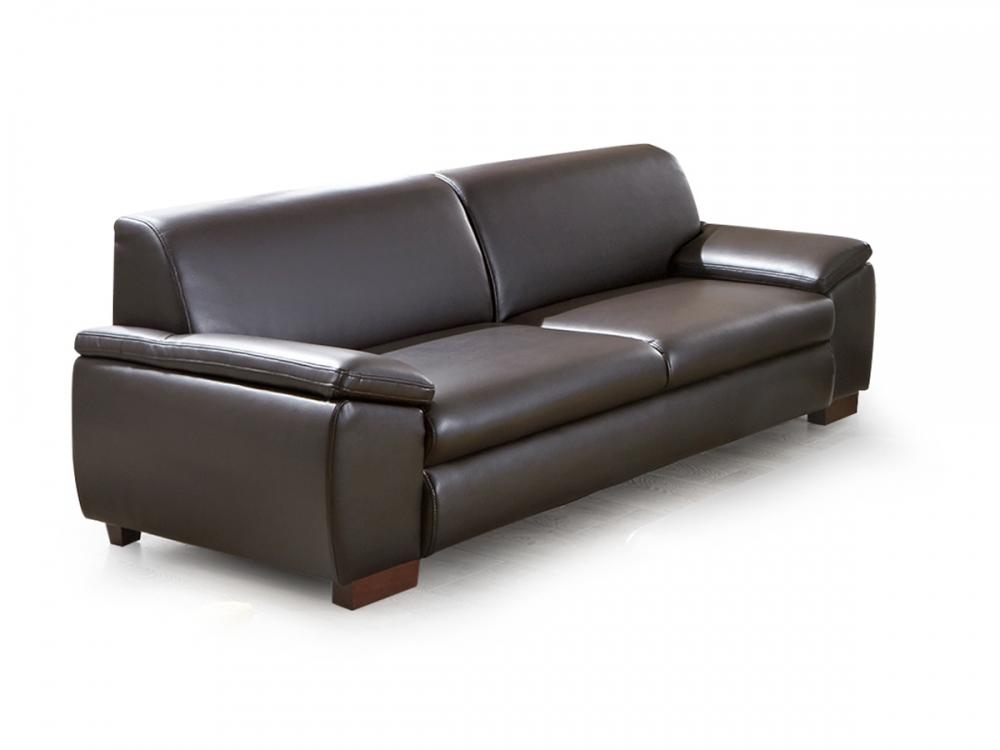 Aladin 3 Sitzer Dreisitzer Polstersofa Sofa Couch Kunstleder B Ffel Braun Dunkel Ebay