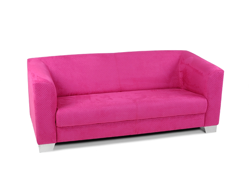 chicago sofa couch 3 sitzer pink rosa punte stoff. Black Bedroom Furniture Sets. Home Design Ideas