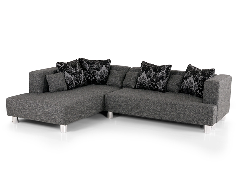eckcouch grau. Black Bedroom Furniture Sets. Home Design Ideas
