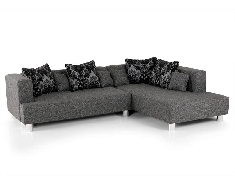 lori ecksofa eckcouch sofa couch sitzecke stoff grau ottomane rechts schlafsofa ebay. Black Bedroom Furniture Sets. Home Design Ideas