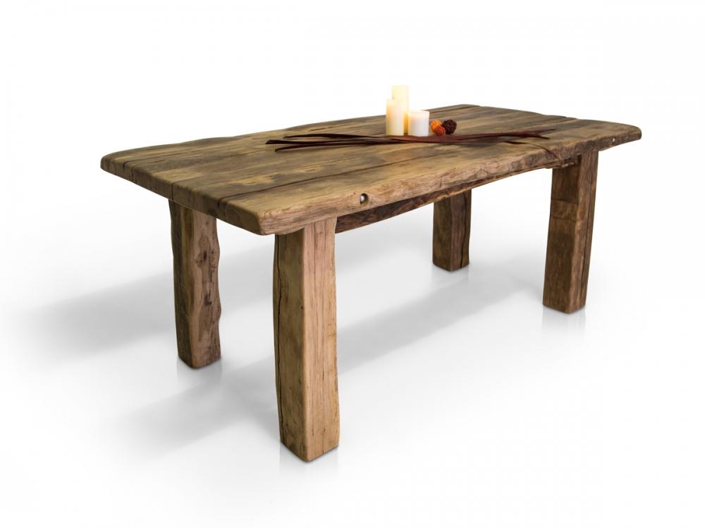 rustikaler eiche esstisch wikinger tisch 200x100 cm massivholztisch holztisch ebay. Black Bedroom Furniture Sets. Home Design Ideas