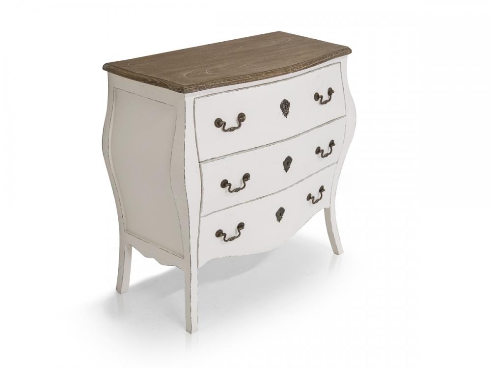 paul kommode schubladen schrank romantisch sideboard wei. Black Bedroom Furniture Sets. Home Design Ideas