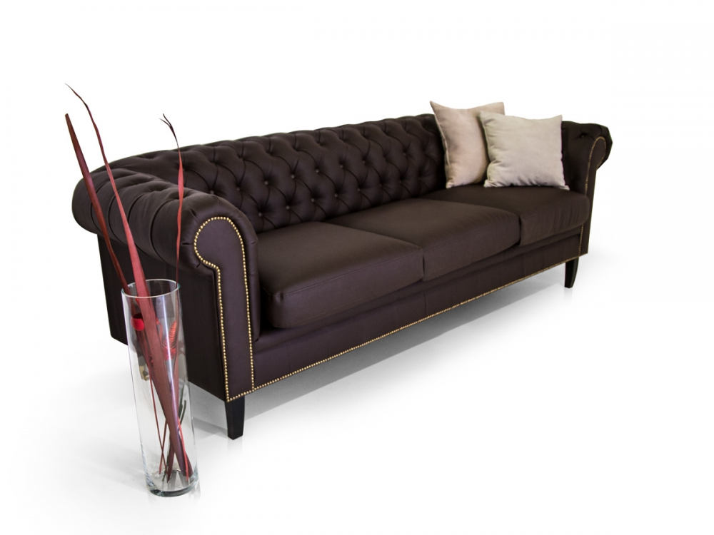 santos chesterfield polstersofa sofa 3 sitzer dreisitzer. Black Bedroom Furniture Sets. Home Design Ideas