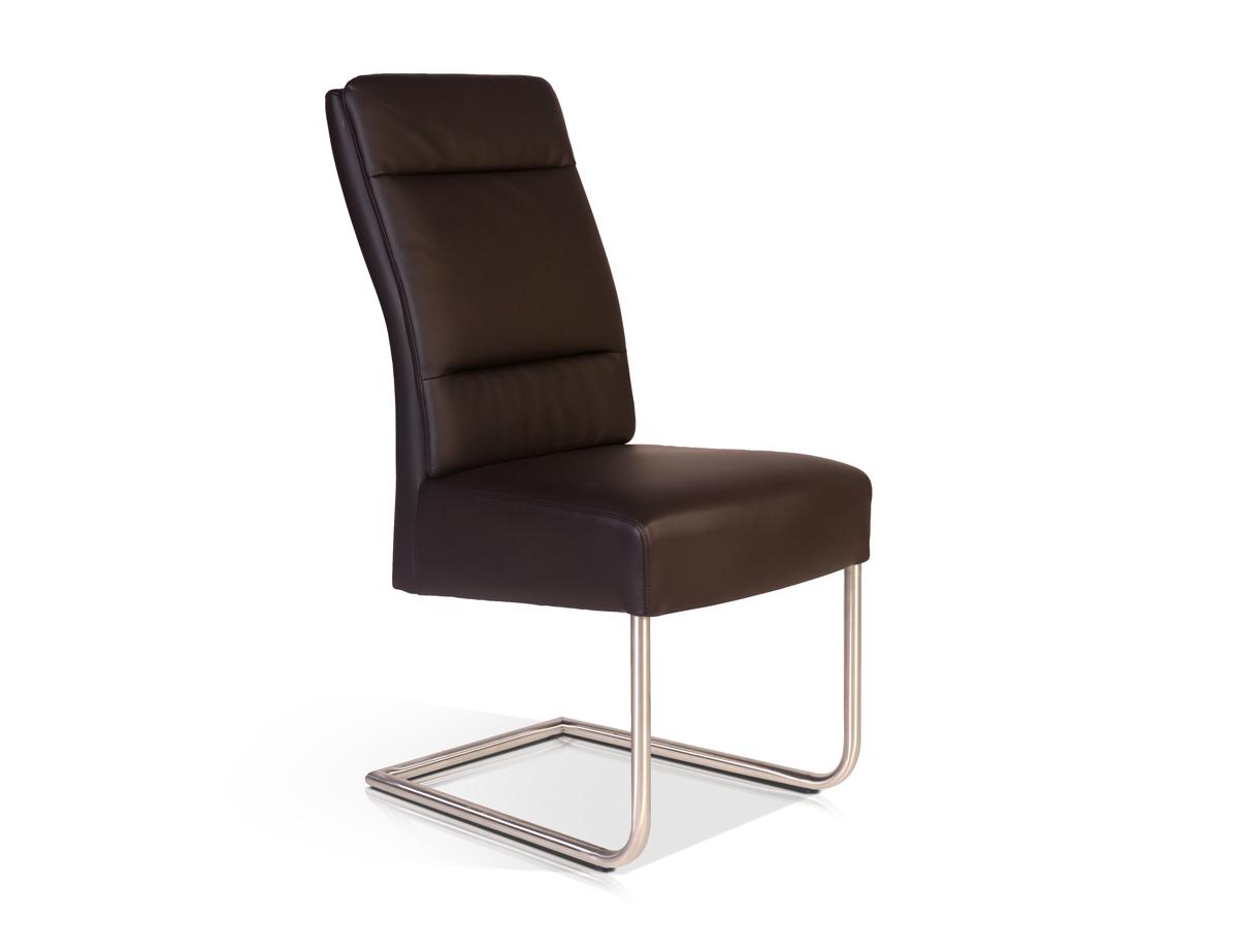 nelli freischwinger schwingstuhl stuhl esszimmerstuhl kunstleder dunkelbraun ebay. Black Bedroom Furniture Sets. Home Design Ideas