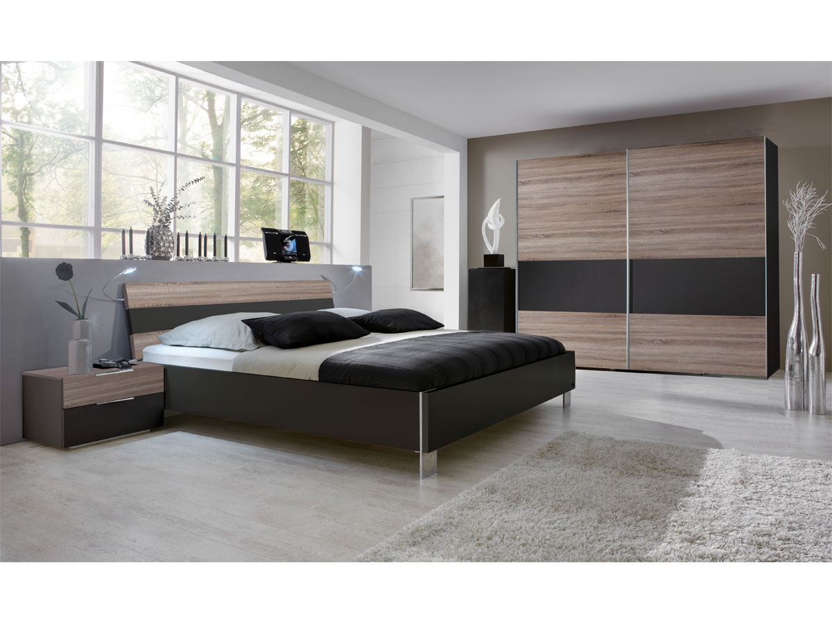 laila komplettschlafzimmer schlafzimmer bett 140x200 schrank nachtkommode dekor ebay. Black Bedroom Furniture Sets. Home Design Ideas