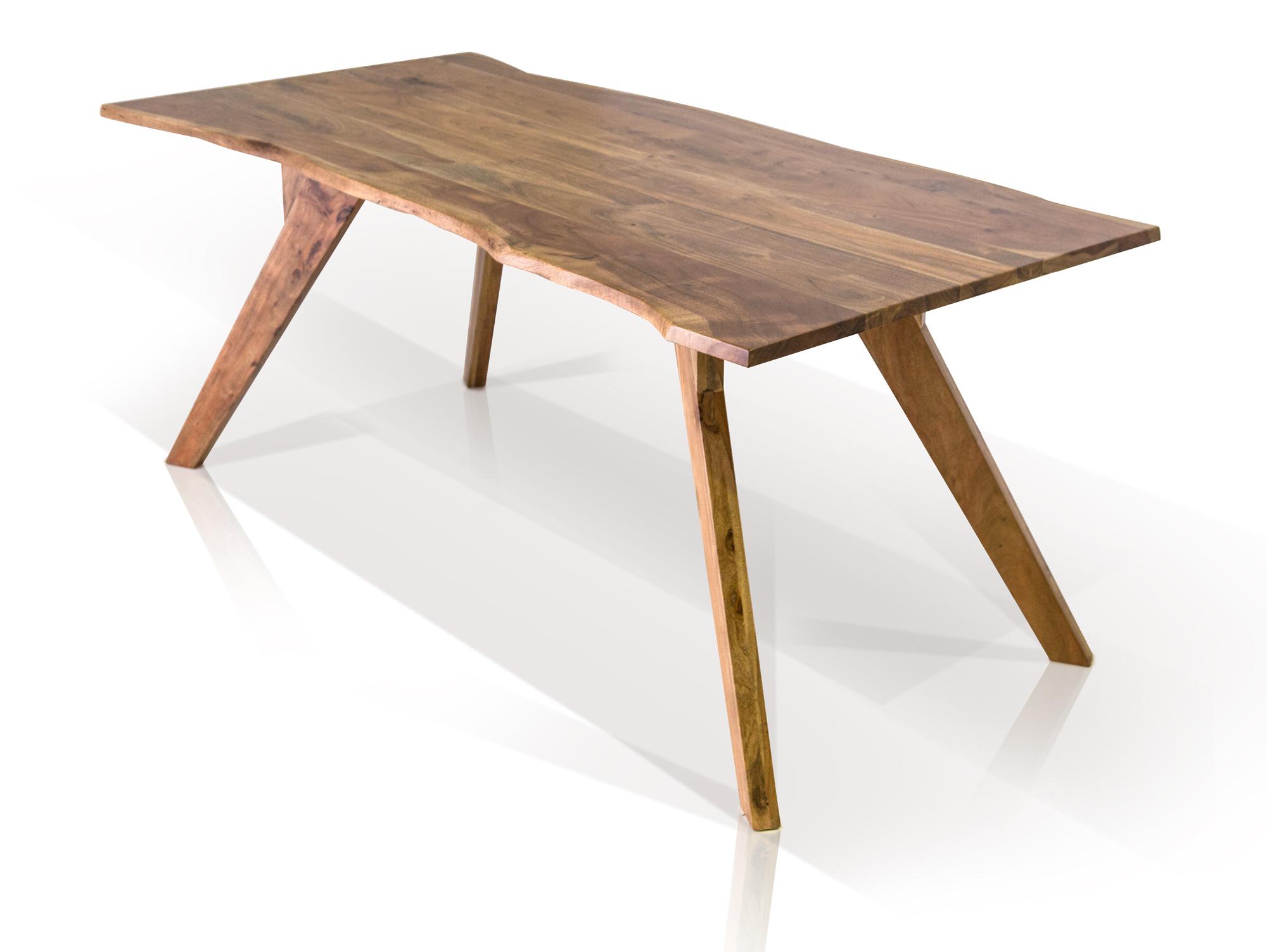 Esstisch GERA II 200x90 cm Baumkanten Tisch Massivholztisch Holz ...